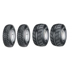 Lot de 4 Pneus Kenda Speed Racer K546/547 165x70x10 / 225x40x10