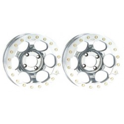 Lot de 2 Jantes Alu Beadlock Chrome 12x7 4x137
