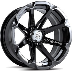 Lot de 2 Jantes Alu Diesel Black MotoSport 14x7 4x110 +10mm