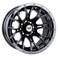 Lot de 2 Jantes Alu Diablo Black Chrome Douglas 14 x6 4/115 4+2