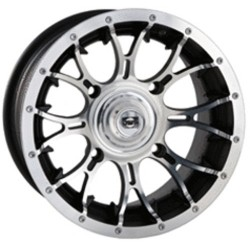 Lot de 2 Jantes Alu Diablo Machined Douglas 14x8 4/136 5+3