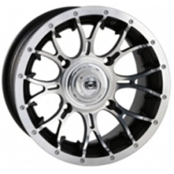 Lot de 4 Jantes Diablo Machined Douglas 12 x 7 - 4 x 136.5