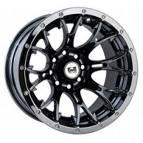 Lot de 4 Jantes Diablo Black Chrome Douglas 12 x 7 - 4 x 136.