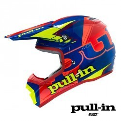 Casque Pull-in Adulte Bleu Orange Fluo Jaune Fluo
