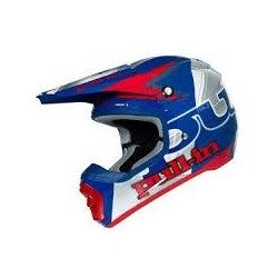 Casque Pull-in Adulte Bleu Rouge Argent
