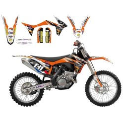 Kit Deco BlackBird KTM Team HDI MX2