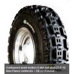 Lot de 8 Pneus +2 Offert Goldspeed AV MXF PPM 21 x 6 x 10 Bleu M