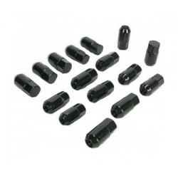 Lot de 16 écrous Noir Conique Moose 10x1.25mm Port Offert